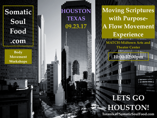 POSTPONED Somatic Soul Food's workshop, Moving Scriptures with Purpose-A Flow Movement Experienc