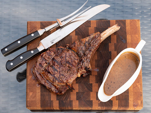 16oz Dry Aged Bone-In Rib Eye Steak Meal Pack (To Share) - £18pp
