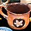 Thumbnail: Tangerine colored mug with pink flower