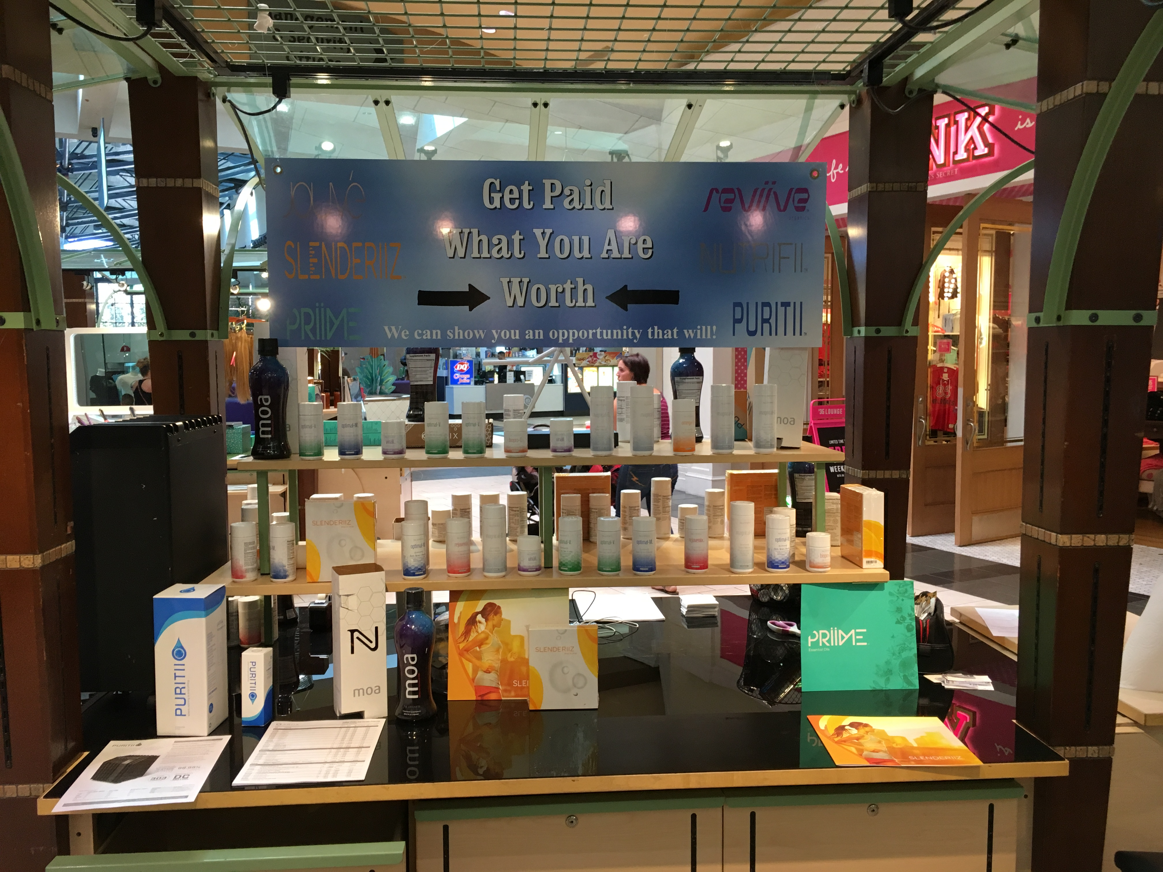 ARIIX Products - Mall Kiosk
