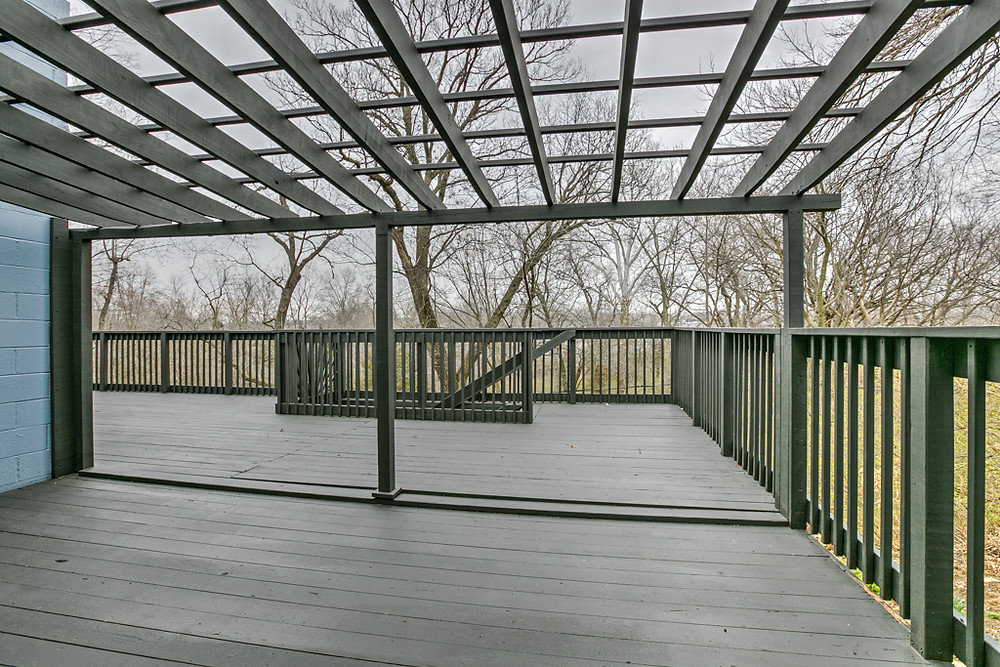 Extra Large Deck with Arbor for Entertaining guests: 6345 Robin Hood Dr, Merriam, KS 66203 home for sale