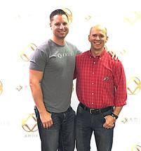 Charles Gilbert with ARIIX Product Manager Tom Jackson