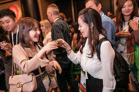 Guests enjoying nutriional Giving Greens