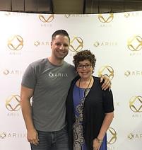 Charles Gilbert with business partner Lynn Allen-Johnson