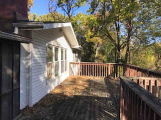 back deck at 6345 Robin Hood Dr, Merriam, KS- Fix and Flip
