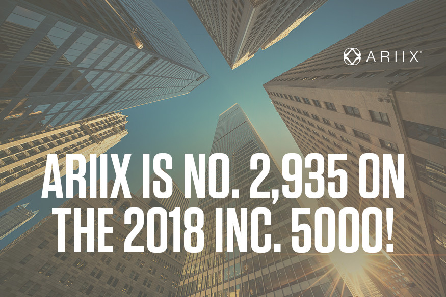 ARIIX is Number 2,935 in INC 5000