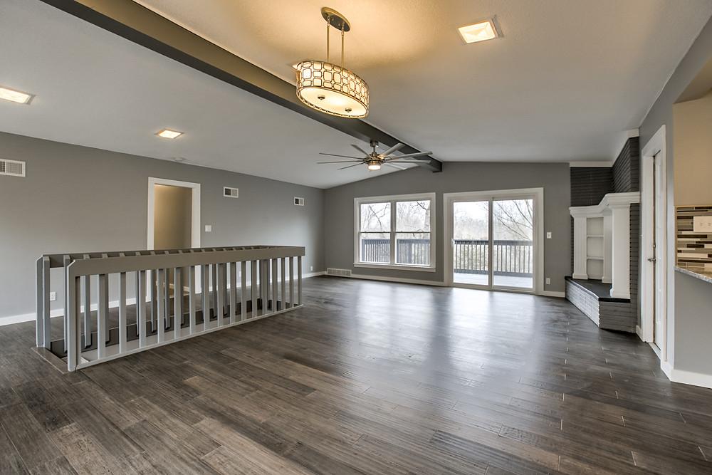 Great room: 6345 Robin Hood Dr, Merriam, KS 66203 home for sale