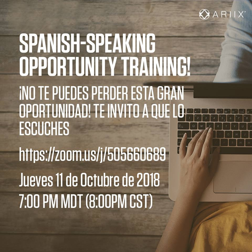 ¿Habla Español? CONECTESE JUEVES CON ZOOM LIVE | Spanish Speaking Opportunity Call every Thursday