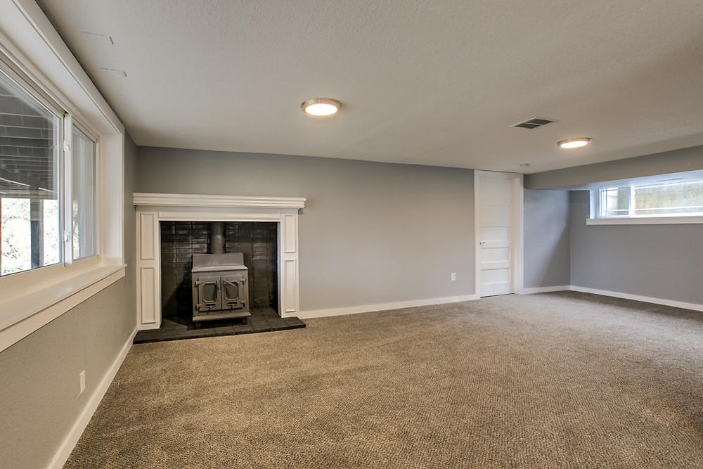 Finished Basement, new windows, new carpet, wood burning stove: 6345 Robin Hood Dr, Merriam, KS 66203 home for sale