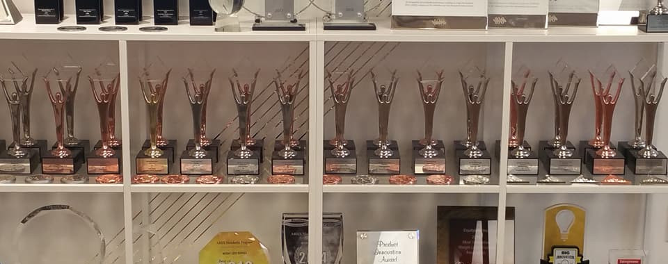 Ariix business awards displayed at Salt Lake City corporate headquarters 2.jpg