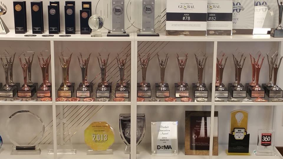 Ariix business awards displayed at Salt Lake City corporate headquarters 2.jpg