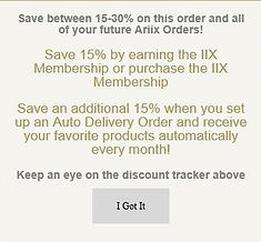Save 30% off your ARIIX products for Health and Wealth