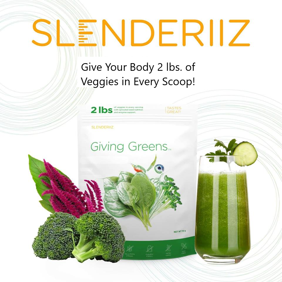 Giving Greens powder veggies on-the-go goodness