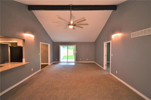 6108 Northern Ave., Raytown, MO 64133 - Home For Sale - huge family room with sliding glass door leading to large patio