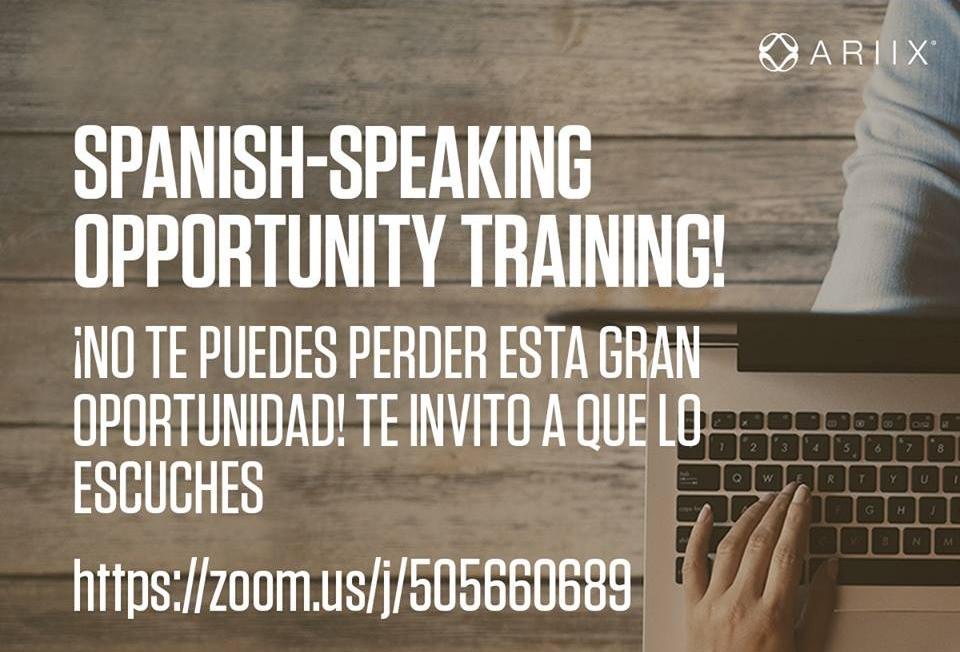Do you speak Spanish? ¿Habla Español? ¿A usted le gusta la oportunidad de ARIIX?