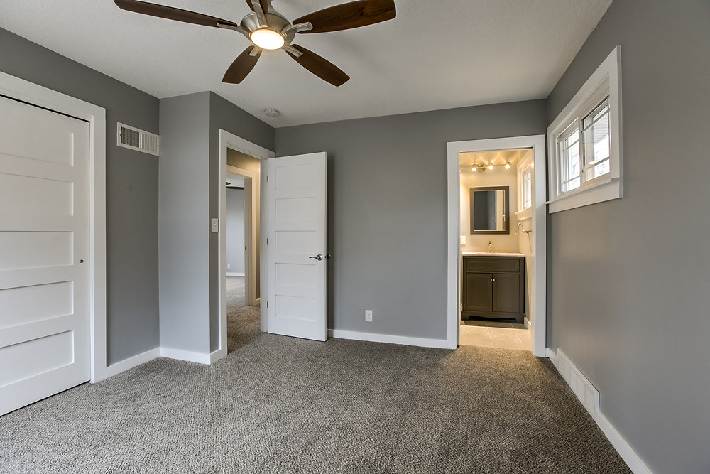 Master bedroom with bath: 6345 Robin Hood Dr, Merriam, KS 66203 home for sale