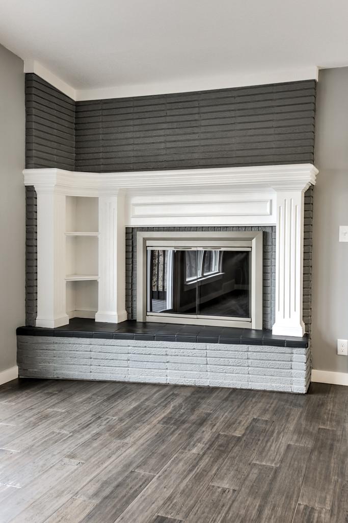 Wood burning fireplace: 6345 Robin Hood Dr, Merriam, KS 66203 home for sale