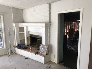 Living room fire place renovation