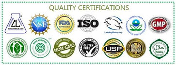 Ariix quality certifications - OTC, FDA, NSF, ISO, USP, GMP certified