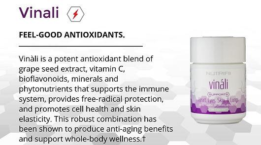 Ariix Vinali - Powerful antioxidants grape seed extract and vitamin c