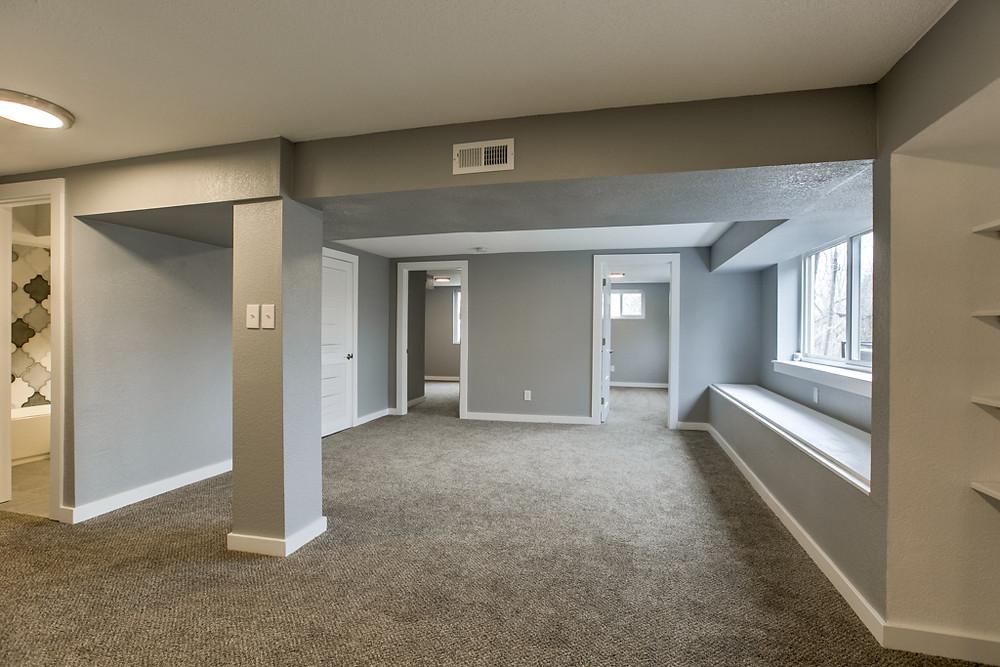 Finished 1300+ square foot basement, 5 bedrooms: 6345 Robin Hood Dr, Merriam, KS 66203 home for sale