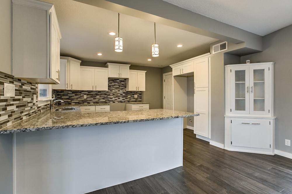 Brand new Kitchen, custom cabinets, granite: 6345 Robin Hood Dr, Merriam, KS 66203 home for sale