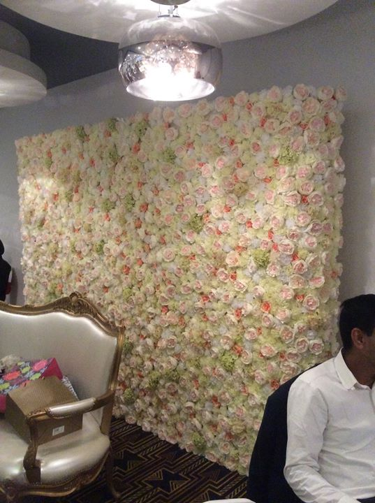 Another beautiful artificial flower wall