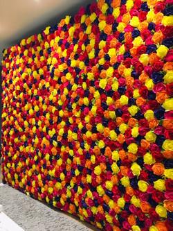 bright flower wall