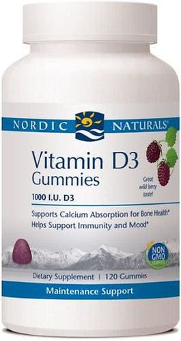 Nordic Naturals Vitamin D3 Gummies #60