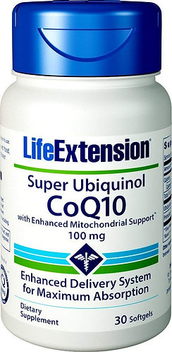 Life Extension Super Ubiquinol with Enhanced Mitochondrial Support 100 Mg