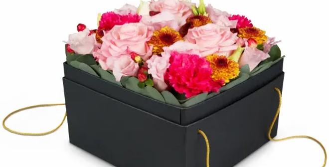 Blumenbox bunt 15cm