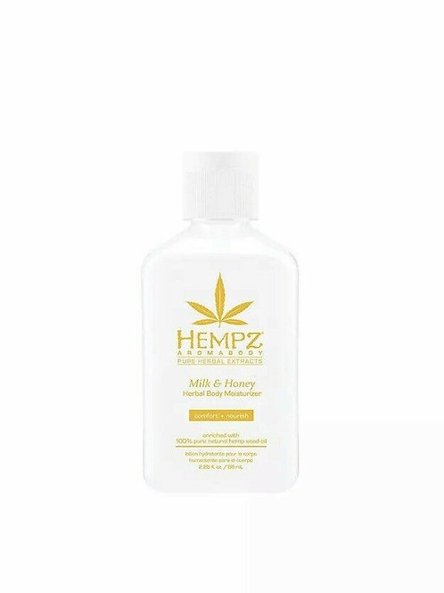 Valley Girl Tan | Hempz  Travel Size Milk & Honey Herbal Body Moisturizer