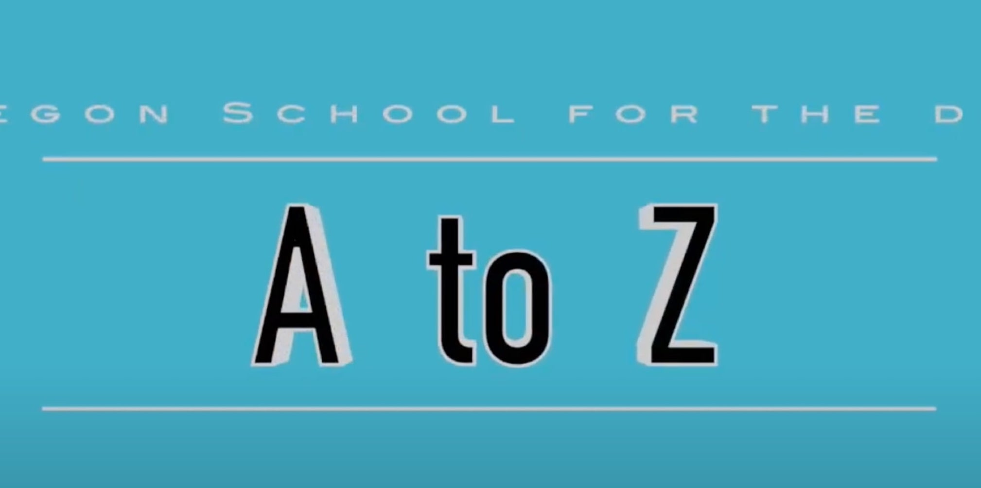 A-Z by OSD CBI Students! by Greg Coughlin