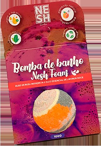 encarte_bomba_banho_nesh_foam_cosmeticos