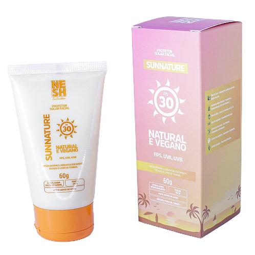 Protetor Solar Natural e vegano 60g SUNNATURE FPS30