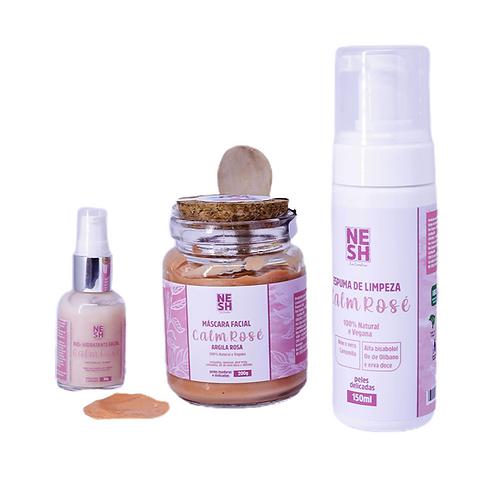Combo tratamento CALM ROSE (peles sensíveis mistas a secas)