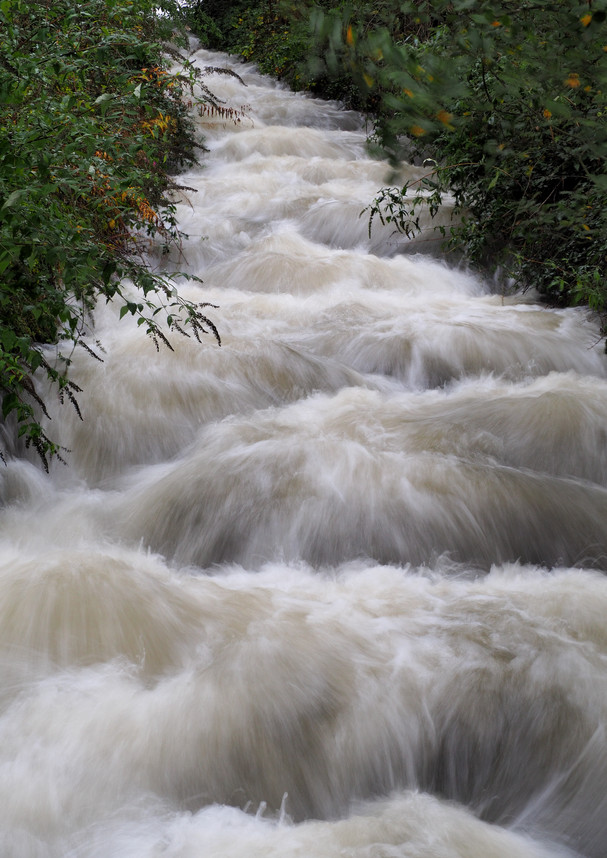 Cascading water in South Wales