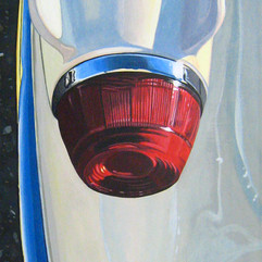 Booster - acrylic on canvas 30 x 10 in.