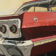 Red Tail - acrylic on canvas - 20 x 60 in.