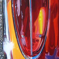 Red Rising No3 - acrylic on canvas 30 x 10 in.