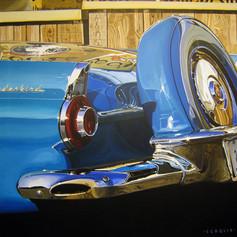 Blue Bird - acrylic on canvas - 30 x 30 in.
