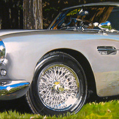 Alan's Aston - acrylic on canvas - 12 x 36 in.