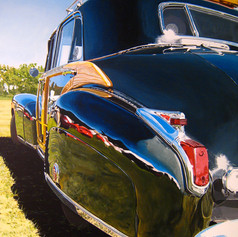 Caddy. Packed - acrylic on canvas - 36 x 24 in.