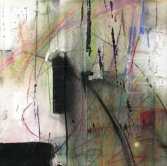 Dark - mixed media on canvas - 12 x 12 in.