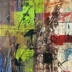 Transit - mixed media on canvas - 24 x 24 in.