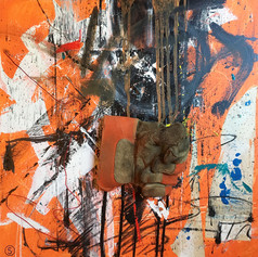 Orange - mixed media on canvas - 24 x 24 in.