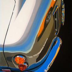 Aston Mirror - acrylic on canvas - 12 x 9 in.