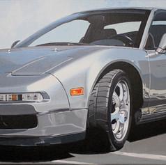 Bill's NSX - acrylic on canvas - 12 x 36 in.