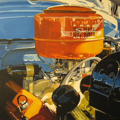 Special Oil Bath - acrylic on canvas 30 x 30 in.