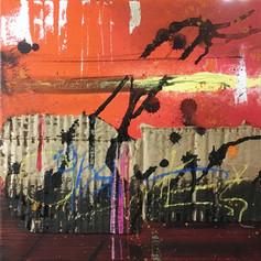 Horizon - mixed media on canvas -  12 x 12 in.